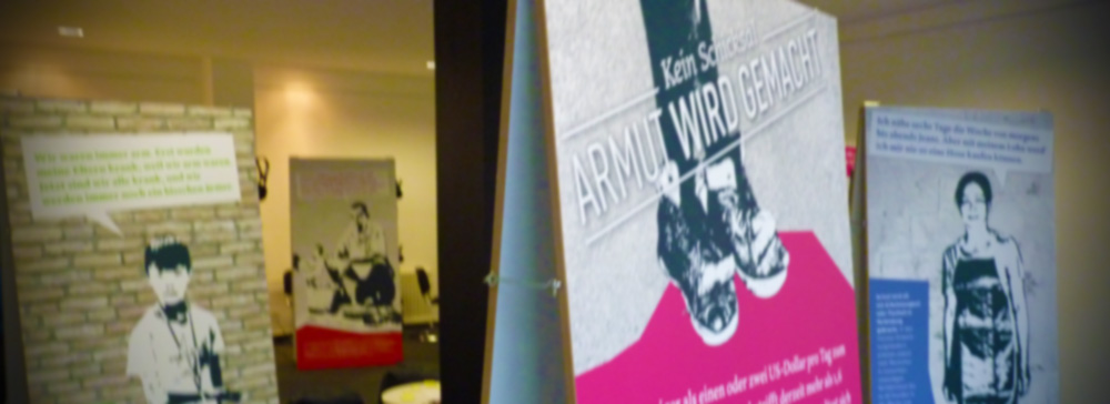 "Ausschnitt Multimedia-Ausstellung ""Kein Schicksal - Armut wird gemacht"""